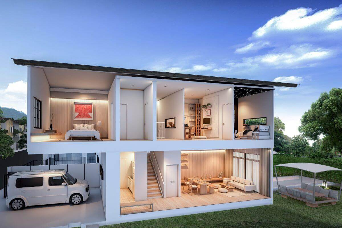 3 camera da letto in stile giapponese Loft House in vendita ...