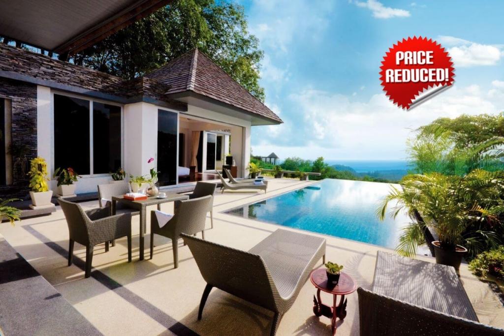 4 Bedroom Panoramic Luxury Sea View Pool Villa for Sale near Layan Beach, Phuket