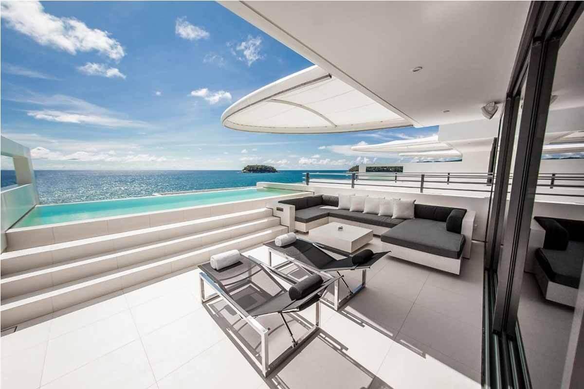 Kata Rocks 2 Bedroom Oceanfront Pool Villa for Sale in Kata Beach Phuketa Phuket