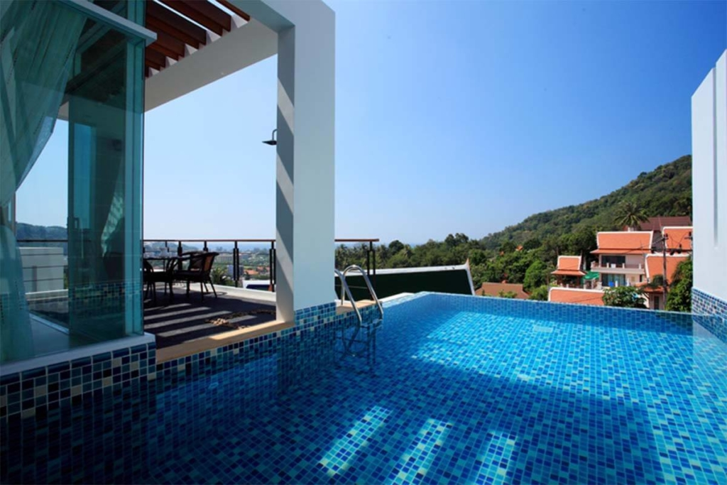 4 Bedroom Sea View Fully Furnished Duplex Pool Villa for Sale in Kata, Phuket