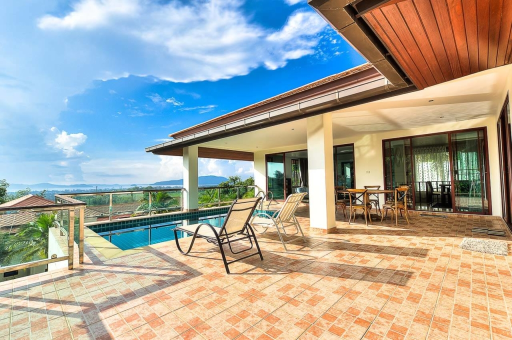 Treasure Park 5 Bedroom Sea View Pool Villa for Rent in Chalong Phuket