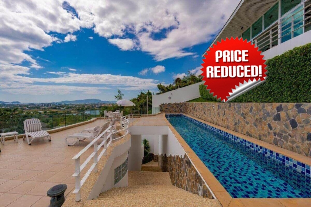 6 Bedroom Sea View Pool Villa for Sale near Phunaka Golf Course in Chalong, Phuket
