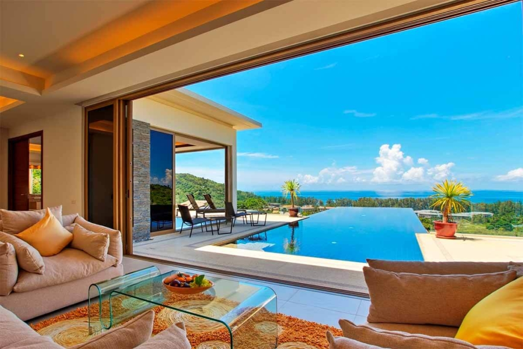 Vista del Mar 4 Bedroom Sea View Pool Villa for Sale in Nai Thon Beach Phuket