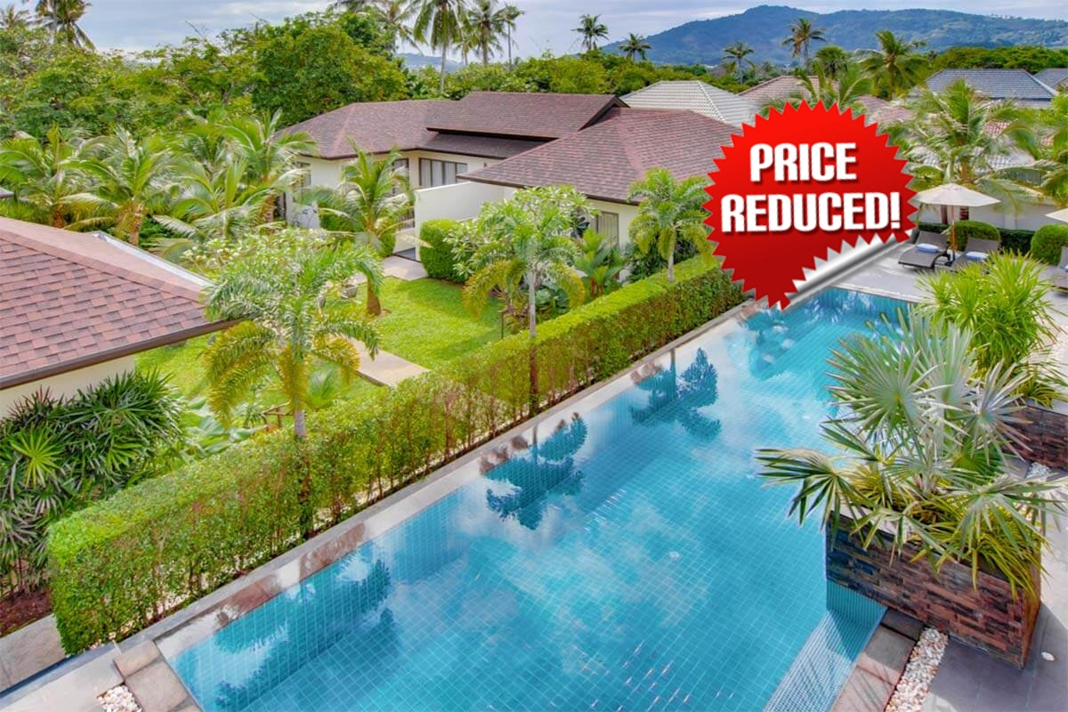 3 Bedroom Private Pool Villa with 4 (1 bedroom) Bungalows for Sale in Nai Harn Phuket