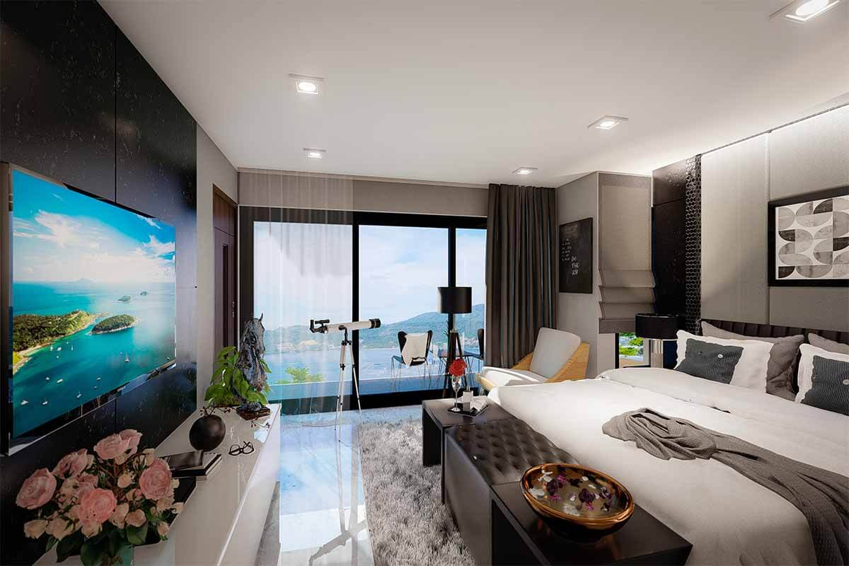 Bayview Paradise Studio Sea View Condo for Sale in Patong Phuket