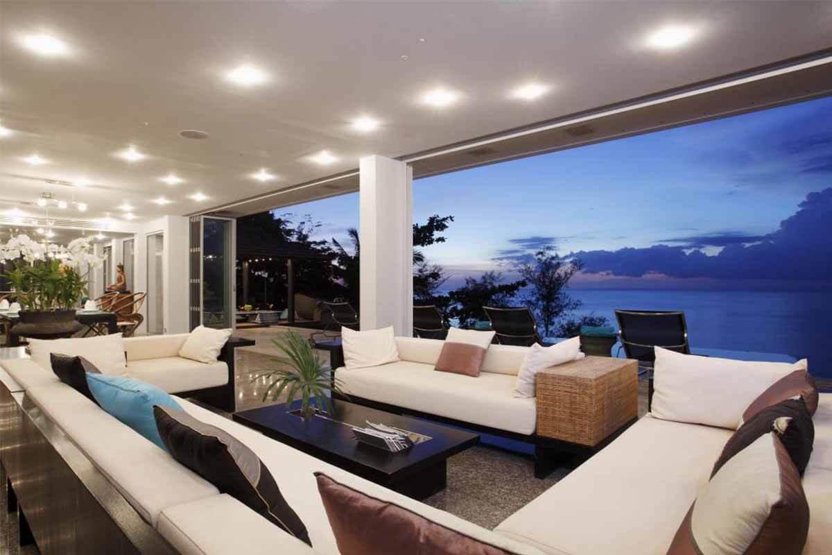 Bluesiam 11 Bedroom Sea View Pool Villa for Rent in Surin Phuket