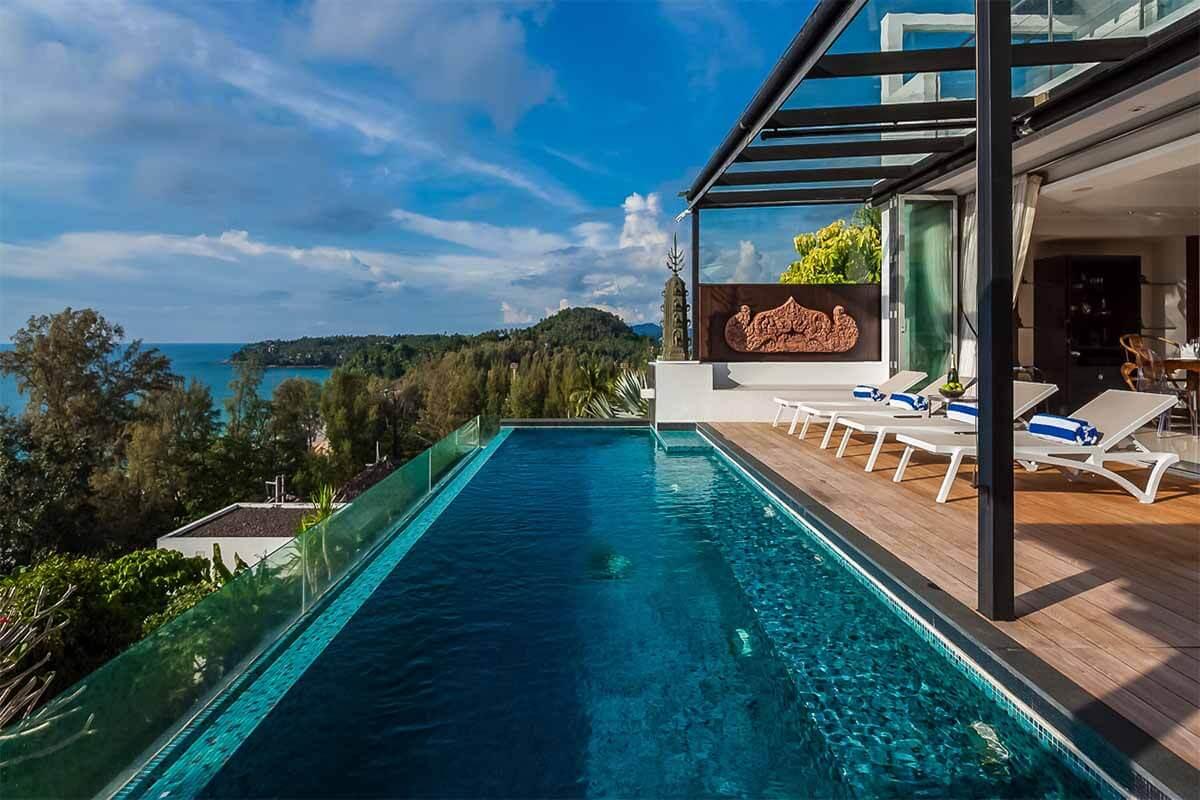 Sawan Anda Villa for 3 Bedroom Sea View Pool Villa for Rent in Surin Phuket