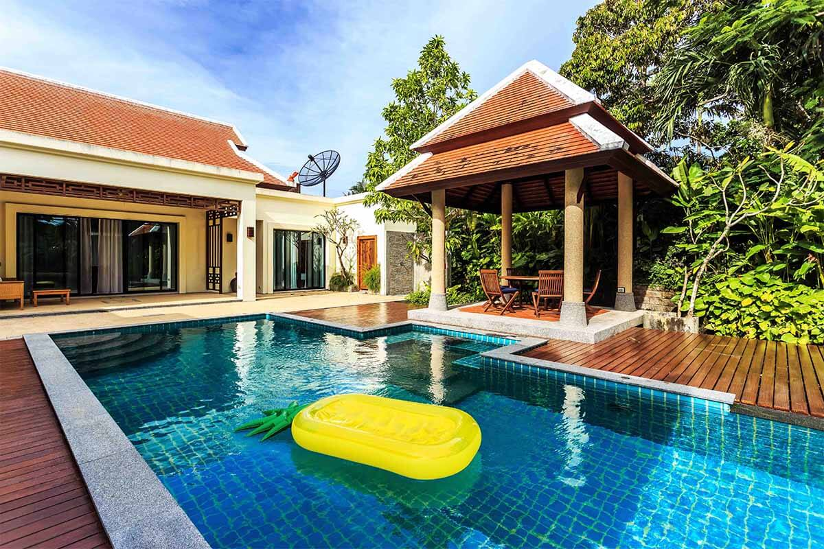 Baan Bua 3 Bedroom Lake View Pool Villa for Rent in Nai Harn Phuket