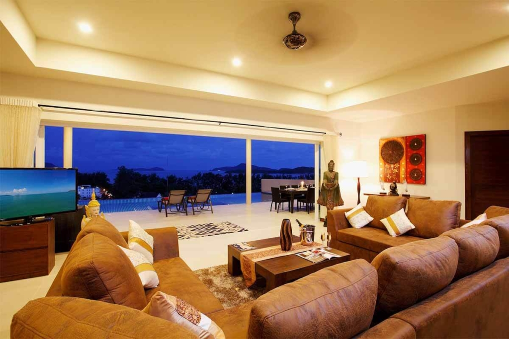 Diamond Villa 9 Bedroom Sea View Pool Villa for Rent in Rawai Phuket