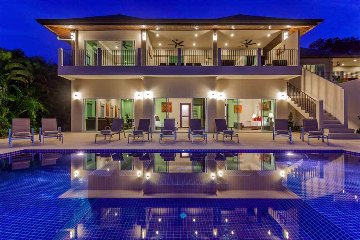 Gold Villa 7 Bedroom Mountain View Pool Villa for Sale in Nai Harn Phuket
