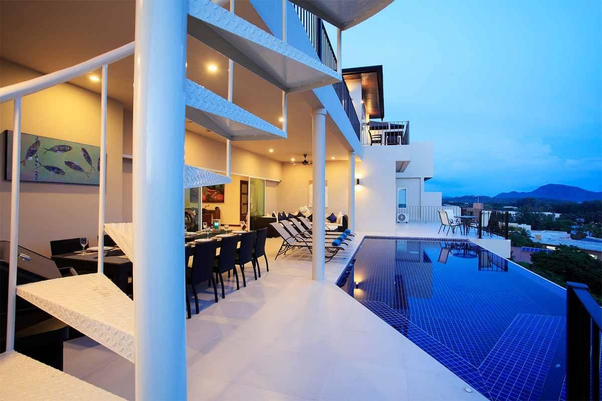 Turquoise Villa 9 Bedroom Sea View Pool Villa for Rent Nai Harn Phuket