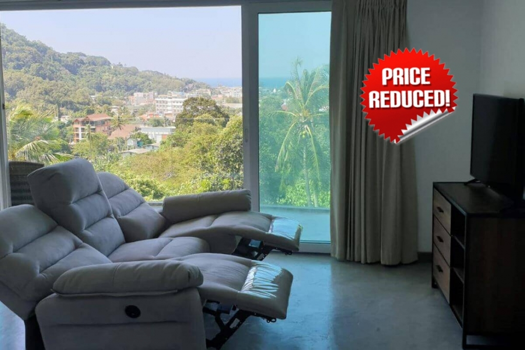 2 Bedroom Sea View Freehold Condo for Sale at Kata Ocean View near Kata Beach, Phuket