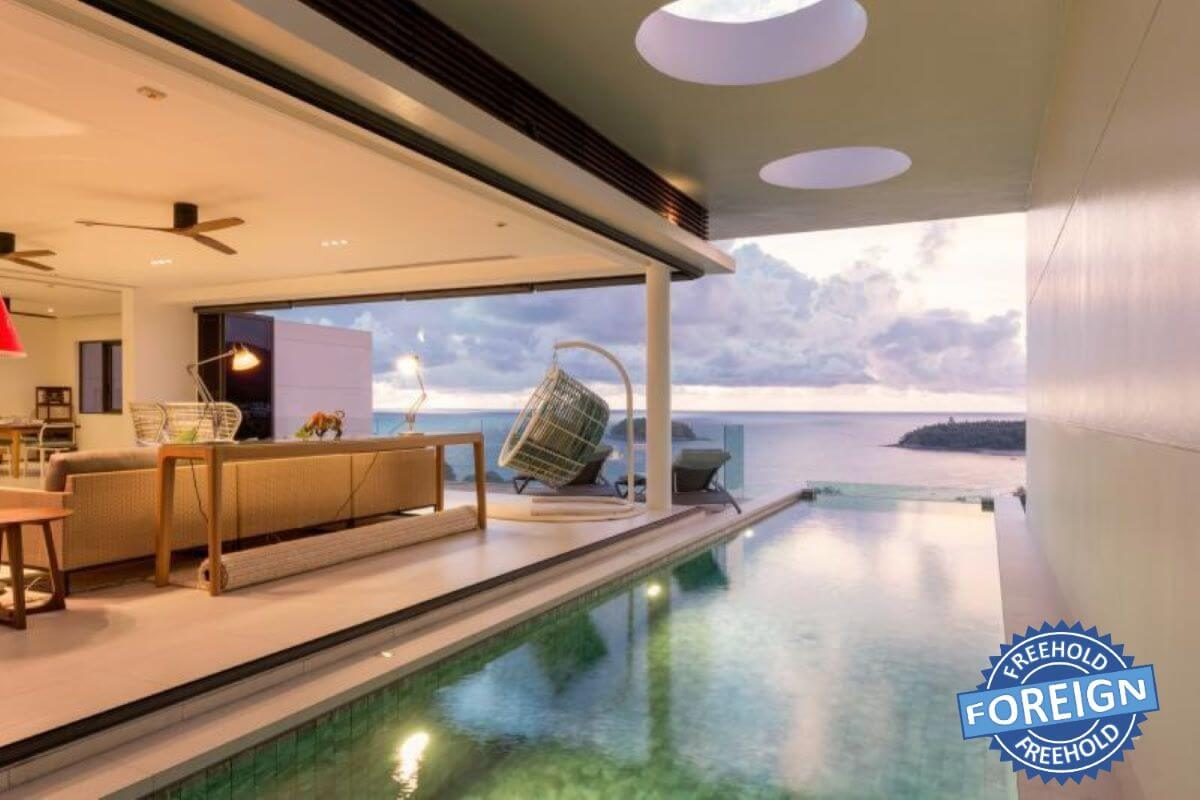 3 Bedroom Sea View Penthouse Condo for Sale in Kata, Phuket