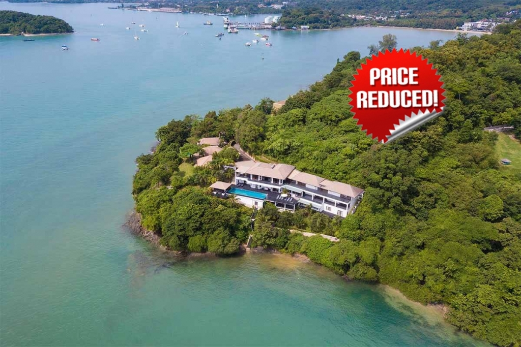 7 Bedroom Oceanfront Luxury Pool Villa with Direct Ocean Access in Ao Makham, Phuket