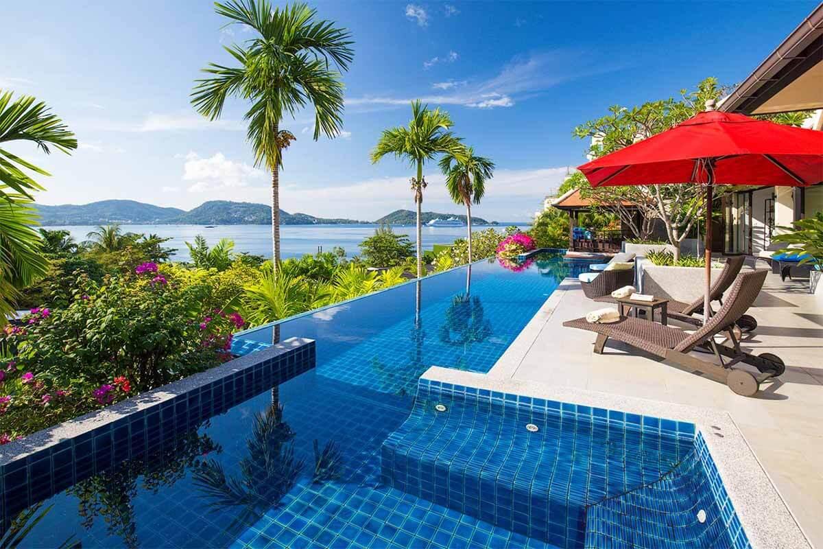 Indochine 4 Bedroom Panoramic Sea View Pool Villa for Sale in Kalim Phuket
