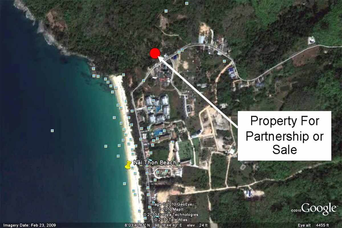 Sea View Chanote Title Land for Sale Near Naithon Beach Phuket
