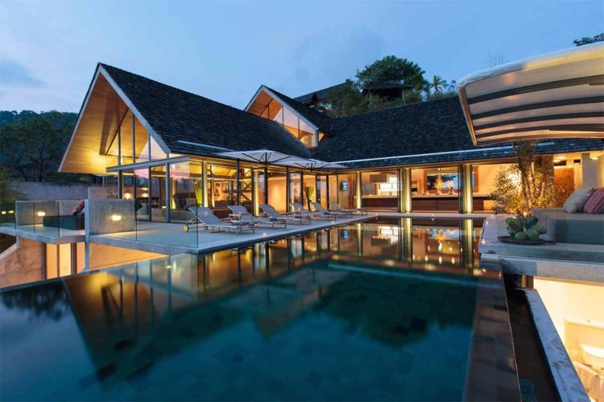 Saengootsa 5 Bedroom Villa Oceanfront Pool Villa for Sale in Kamala Beach Phuket