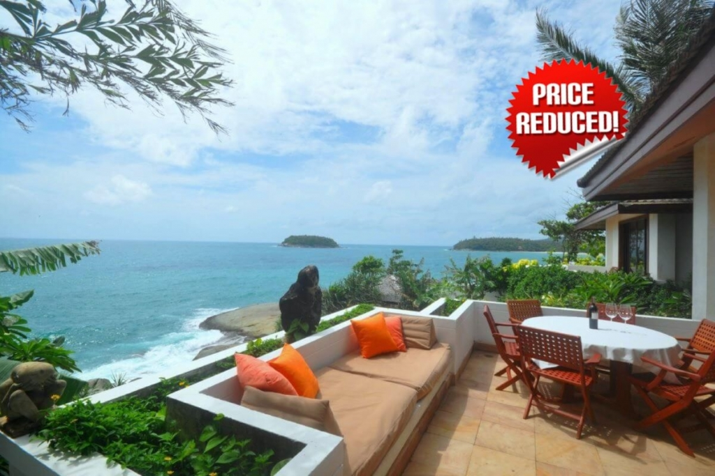 Baan Kata 4 Bedroom Oceanfront Pool Villa in Kata Beach Phuket