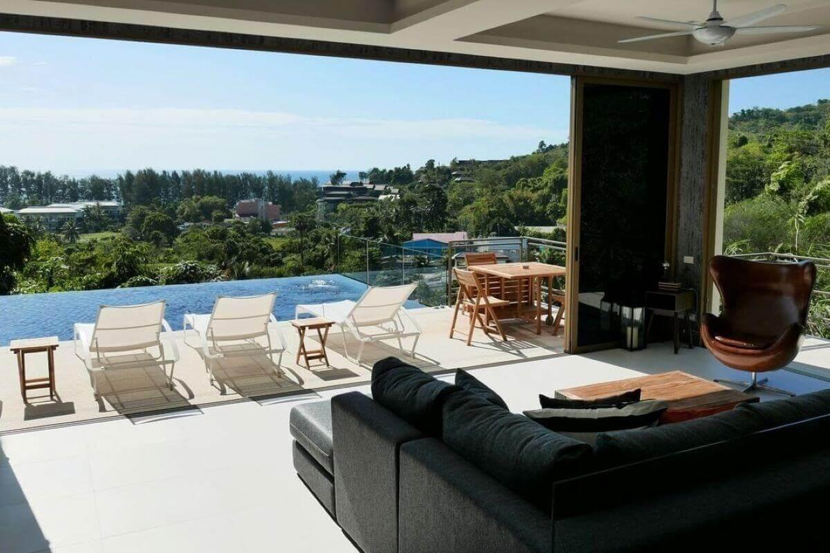 3 Bedroom Sea View Pool Villa for Sale near Nai Thon Beach, Phuket