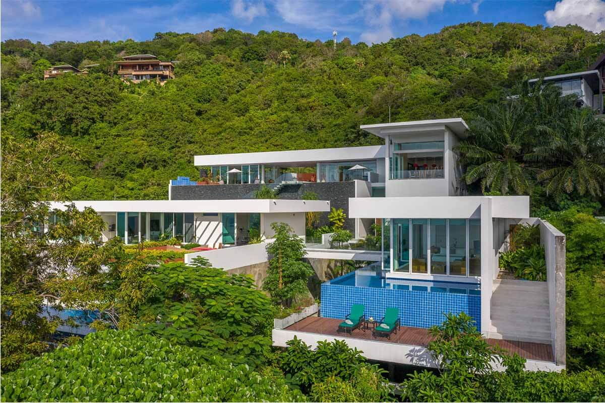 4-6 Bedromm Oceanfront View Villa Solaris for Sale in Kamala Beach Phuket