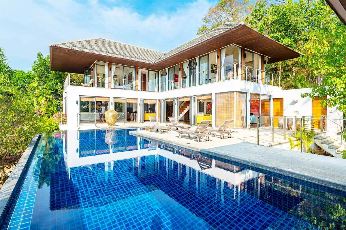 Rawai Villas 5 Bedroom Sea View Pool Villa for Sale near Rawai Beach Phuket