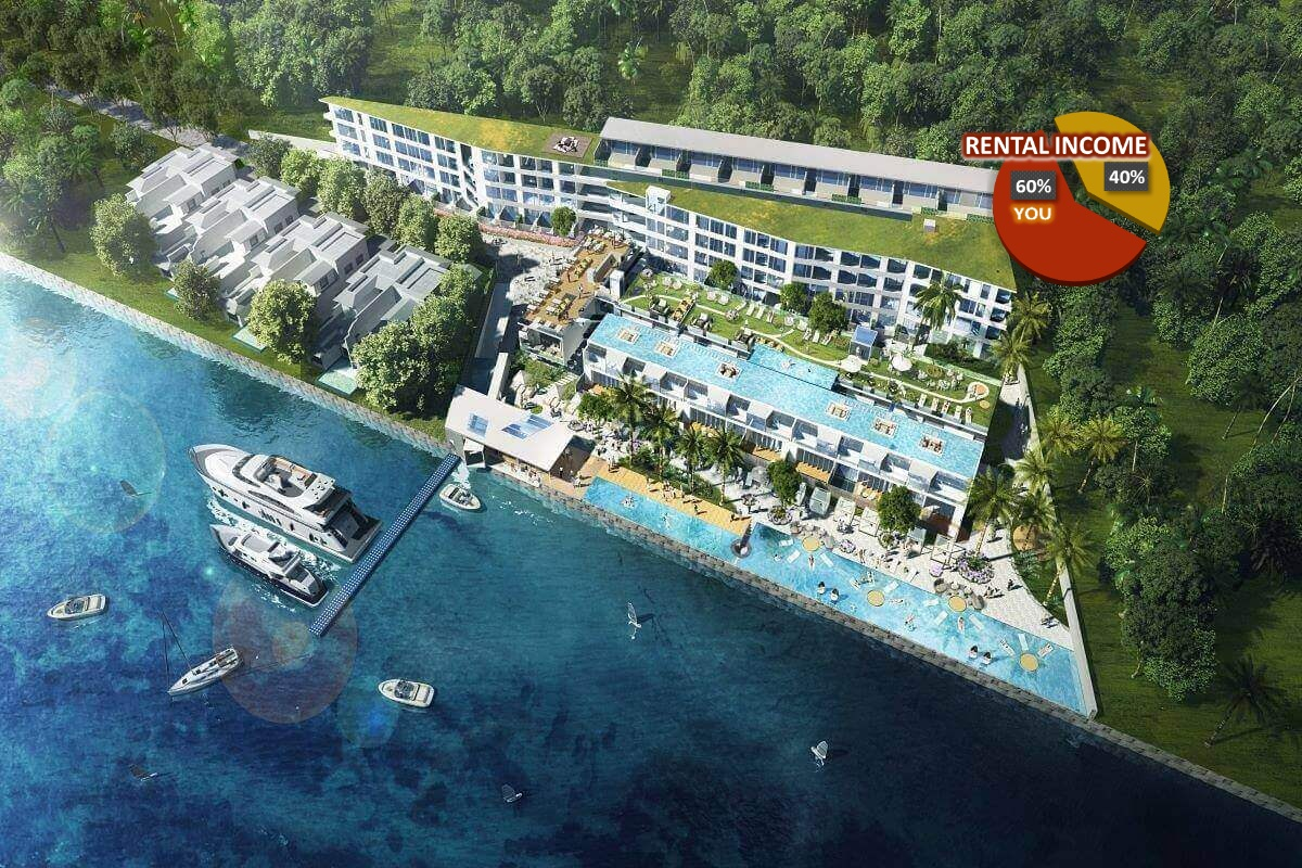 1 Bedroom Seaside Resort Condo for Sale in Chalong Bay Phuket