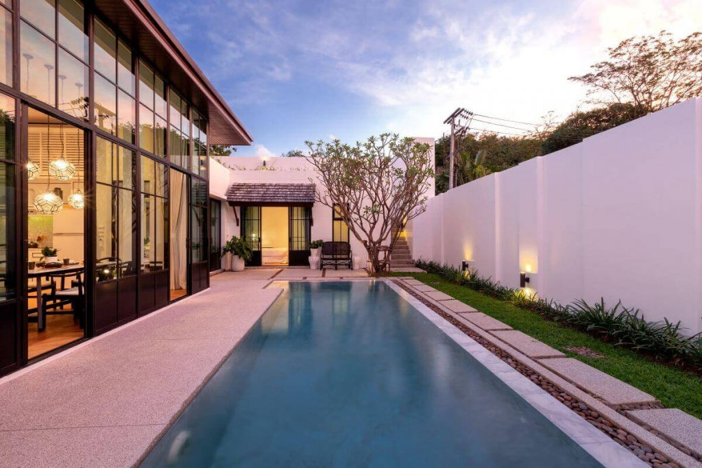 2 Bedroom Trendy Asian Fusion Style Villa for Sale in Cherng Talay, Phuket