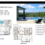 3 Bedroom Panoramic Sea View Luxury Pool Villa for Sale near Layan Beach, Phuket Floorplan