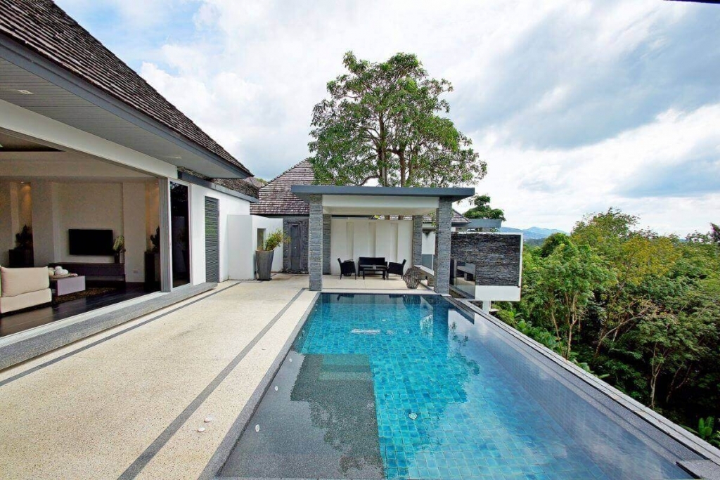 3 Bedroom Panoramic Sea View Luxury Pool Villa for Sale near Layan Beach, Phuket