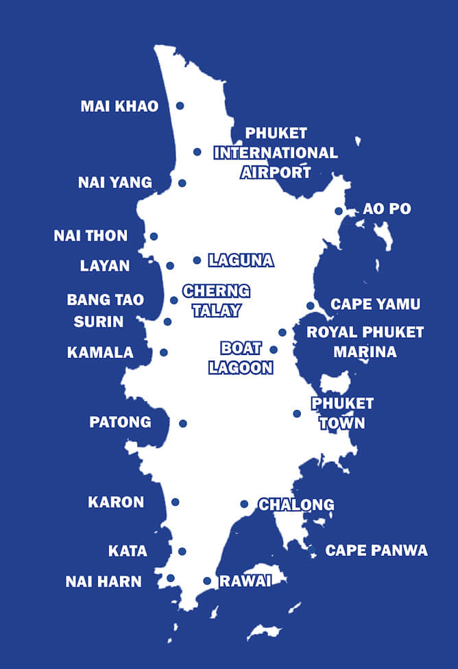 Phuket Real Estate Map