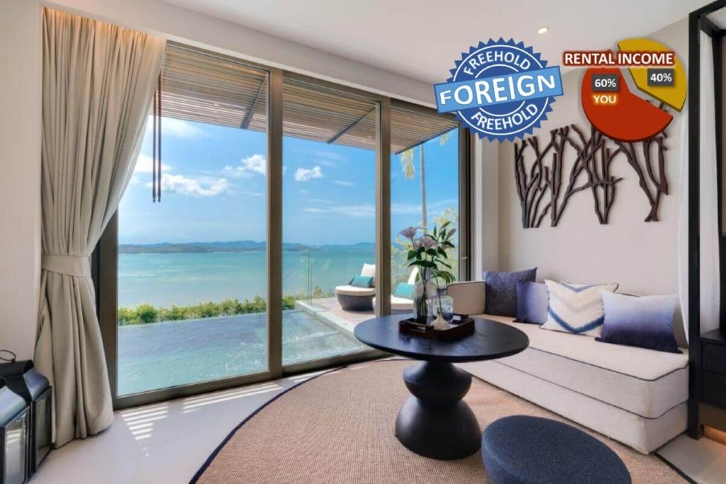 1 Schlafzimmer Freehold Beachfront Pool Suite zum Verkauf in Thalang, Phuket