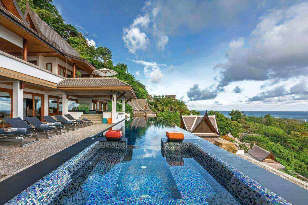 5 Bedroom Luxury Panoramic Sea View Pool Villa for Rent near Surin Beach, Phuket