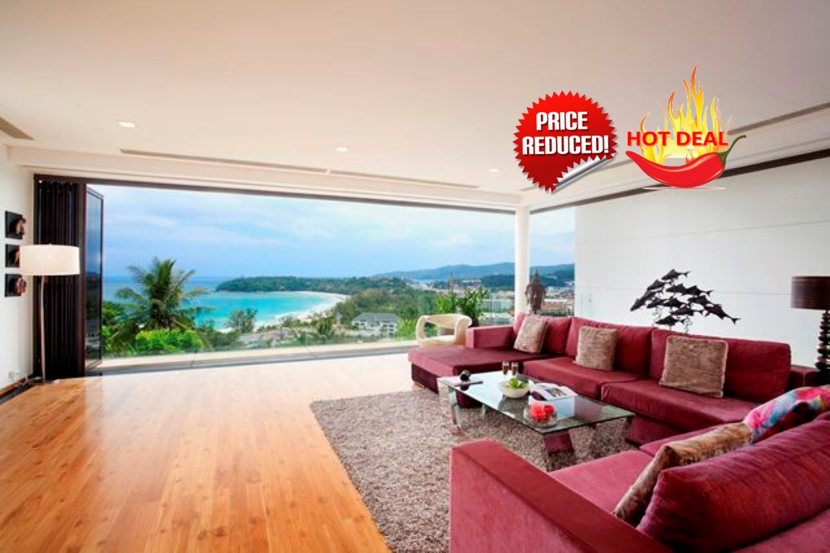 3 bedroom Condo Villa with Stunning Sea Views & Private Pool For Sale by Owner at The Heights in Kata, Phuket