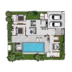 3 Bedroom Moroccan Inspired Pool Vila for Sale in Thalang, Phuket Floorplan