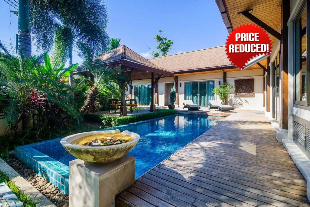 3 Bedroom Fully Furnished Balinese Style Villa for Sale in Nai Harn, Phuket