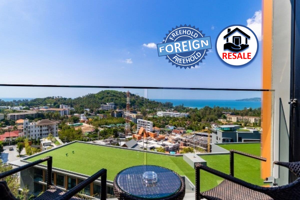 1 Bedroom Foreign Freehold Sea View Condo for Sale by Owner at The Panora near Surin Beach, Thailand