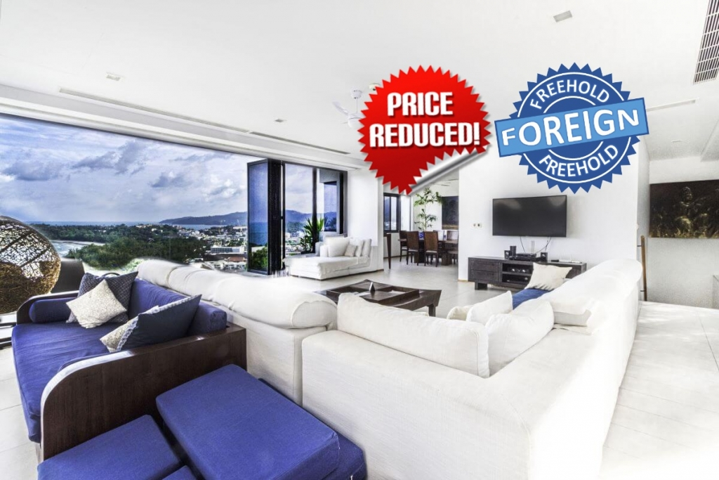 3 Bedroom Foreign Freehold Sea View Condo w/ Private Pool for Sale at The Heights near Kata Beach, Phuket
