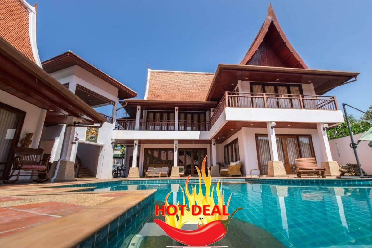6 Bedroom Thai-Balinese Style Pool Villa for Sale in Nai Harn, Phuket
