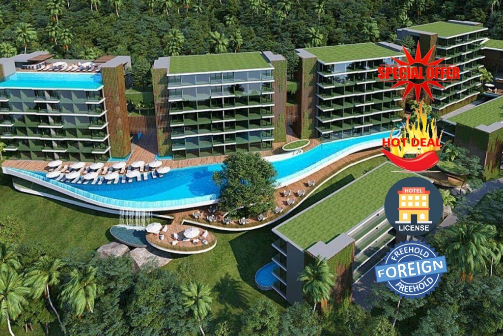 1 Bedroom Foreign Freehold Sea View Resort Condo for Sale near Layan Beach, Phuket