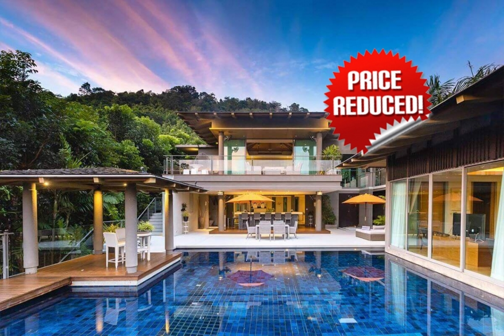 4 + 1 Bedroom Sea View Luxury Pool Villa at La Colline in Layan, Phuket