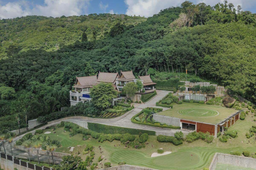 8 Bedroom Sea View Luxury Pool Villa Estate w/ Helipad & Tennis Court for Sale in Nai Harn, Phuket
