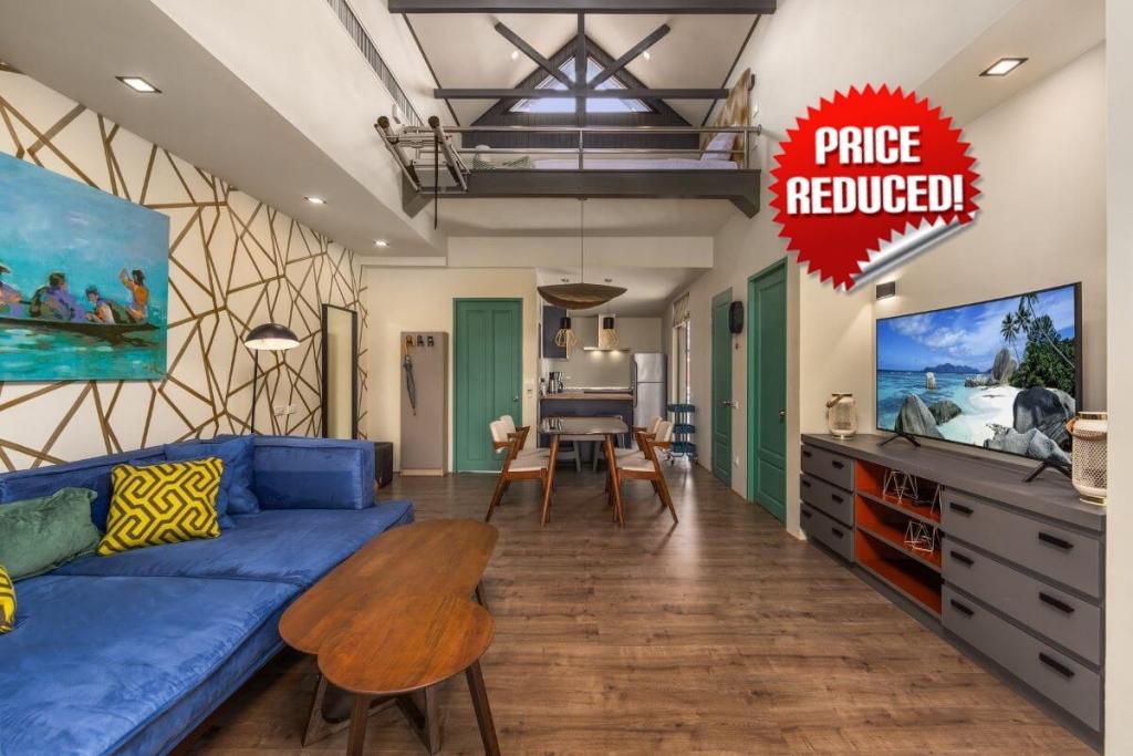 1 Bedroom Freehold Condo with Loft for Sale near Surin Beach, Phuket