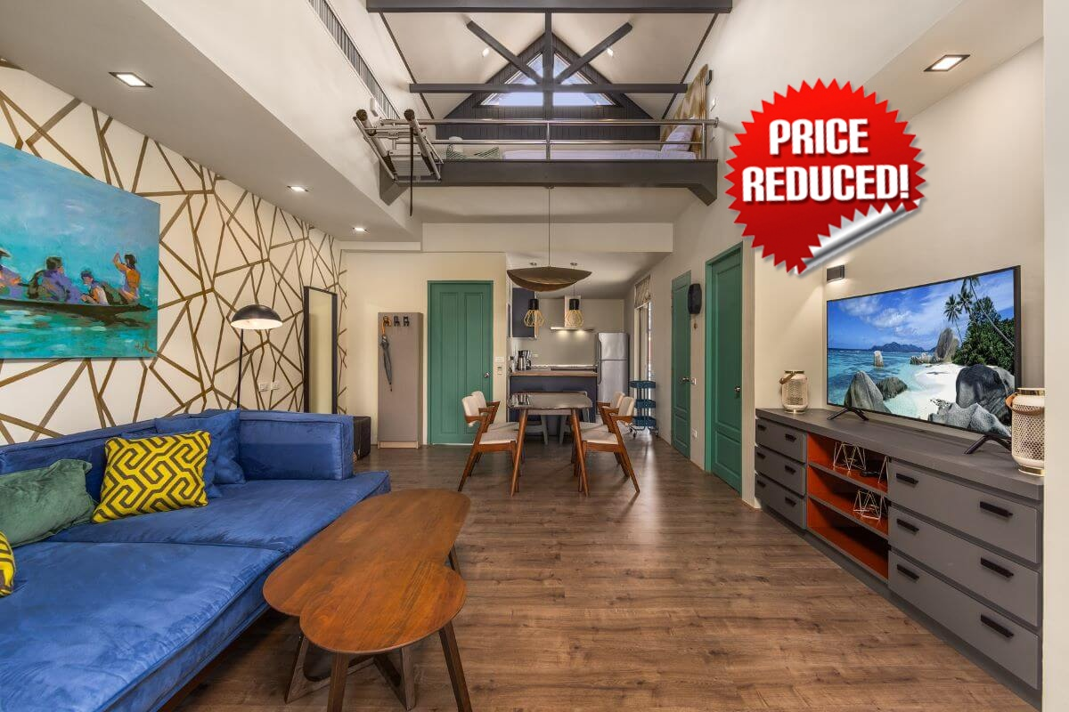 1 Bedroom Freehold Condo with Loft for Sale near Surin Beach, Phuket