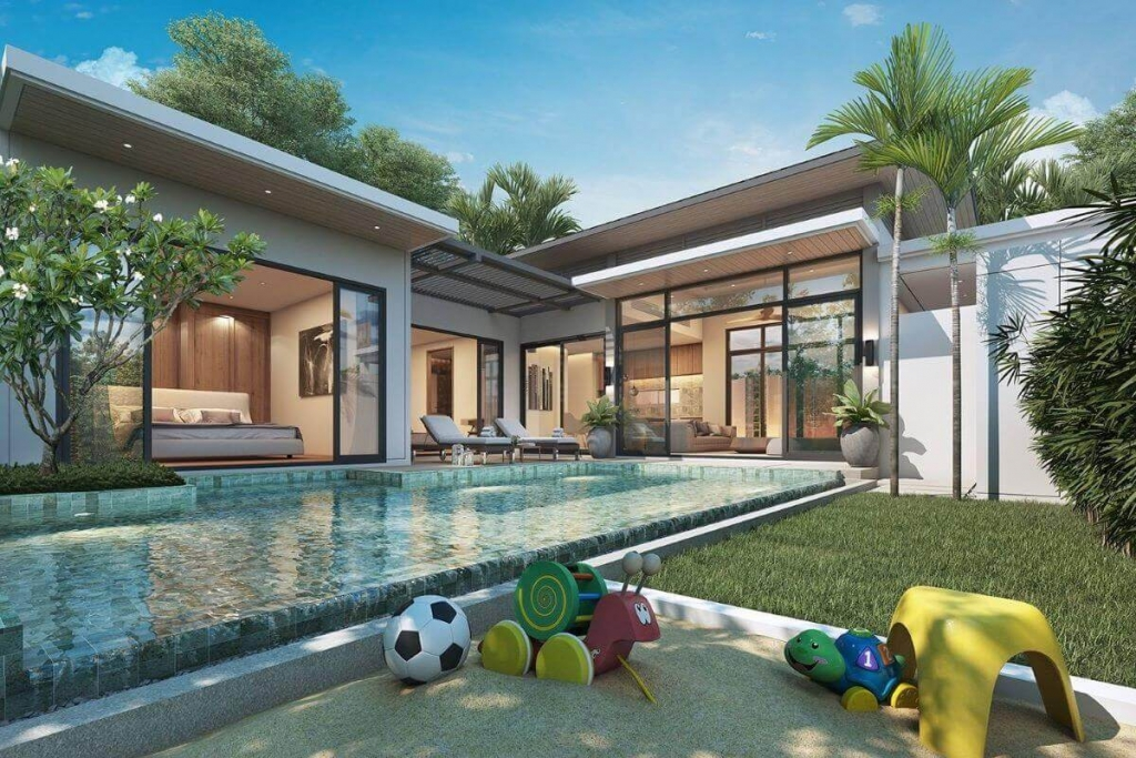 2 Bedroom Pool Villa for Sale near Boat Avenue & Porto de Phuket in Cherng Talay, Phuket