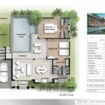 2 Bedroom Pool Villas for Sale near Boat Avenue and Laguna in Cherng Talay, Phuket Floorplan