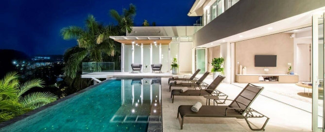 4 Bedroom Pool Villa with Awesome Sea Views for Sale at Surin Heights near Surin Beach, Phuket