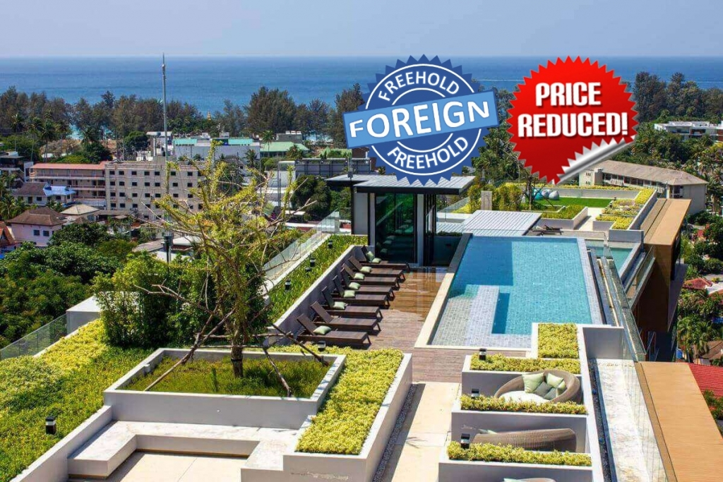 1 Bedroom Foreign Freehold Resort Condo for Sale by the Owner at The Panora near Surin Beach, Phuket