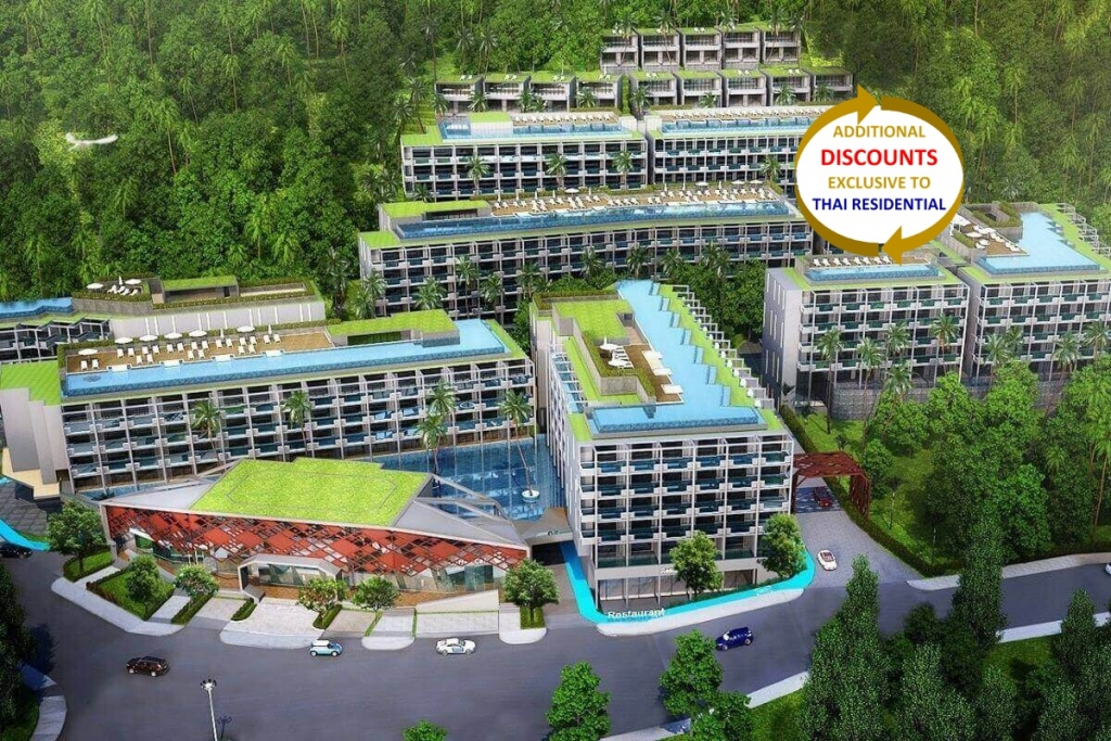 1 Bedroom Resort Condo w/ Balcony Pool for Sale Walking Distance to Surin Beach, Phuket