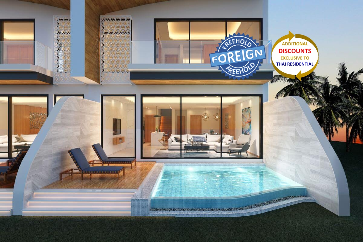 2 Bedroom Foreign Freehold Condo Townhouse Pool Villa for Sale near Rawai Beach, Phuket
