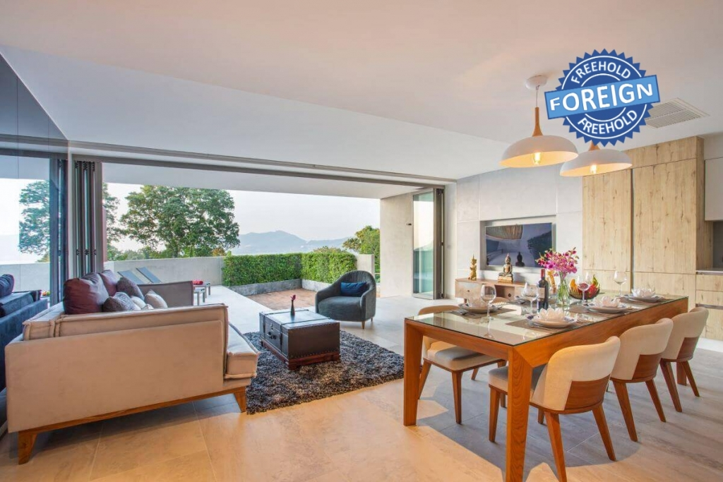 3 Bedroom Foreign Freehold Sea View Condo for Sale near Patong Beach, Phuket